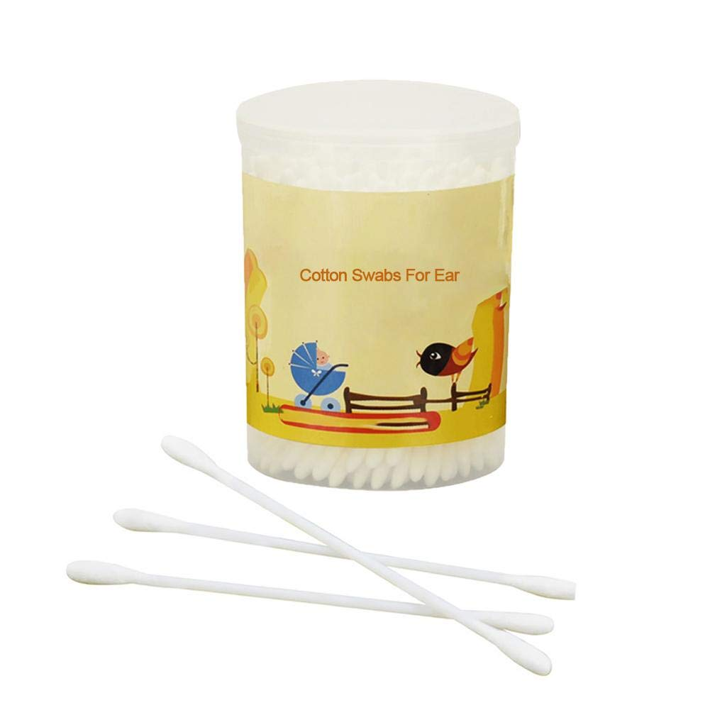 Baby Cotton Swabs Buds Stick - Baby Special Double-Head Thin Shaft Soft Cotton Swab Stick 180 / Box,Child Supplies Baby Care Product Kbsin212