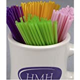 "HMH Fly Tying Poly Tubes with Assorted Fluorescent Colors (Large) (Clear, 1/10"" O.D.)"
