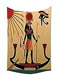 asddcdfdd Egyptian Decor Tapestry Illustration Of Ancient God Sun Ra Old Egyptian Faith Grace Icons Traditional Pagan Print Bedroom Living Room Dorm Decor Multi