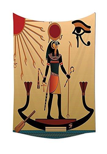 asddcdfdd Egyptian Decor Tapestry Illustration Of Ancient God Sun Ra Old Egyptian Faith Grace Icons Traditional Pagan Print Bedroom Living Room Dorm Decor Multi by asddcdfdd