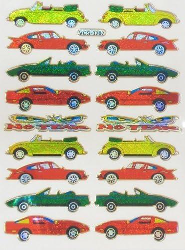 きらきらシール 3枚入り スポーツカー 車 299