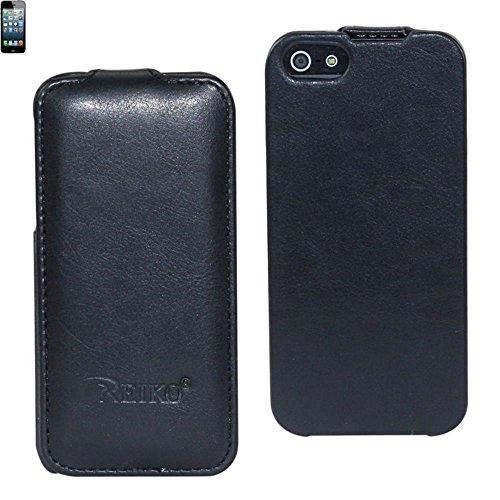 Reiko FC06–cheval fixation IPHONE5BK01 peau pour Apple iPhone 5 Noir