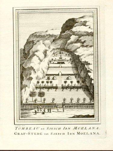 ANTIQUE PRINT -TOMB OF SHEIK MOELANA- ARABIA-1747 ()