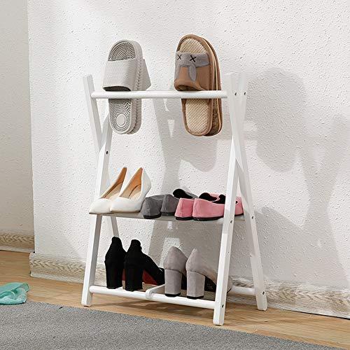 Zapatero Tamaño Madera Zapateras Zapatos 3 Puerta Almacenamiento Para C A Armario Wenzhe Baldas Simple Estantería color Plegable Taburete Maciza Inicio Dormitorio 50x70cm Colores dXxRwnq8E