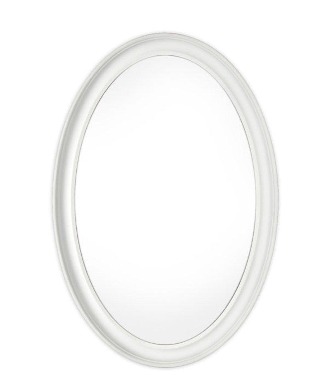 Innova Editions Mist gratuit Miroir ovale – Blanc (54 x 79 cm) -