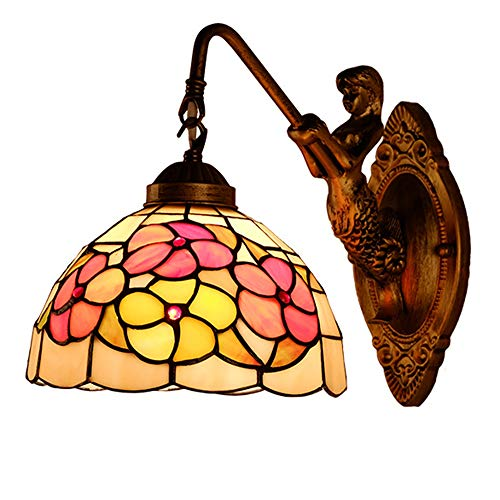 Wall Lamp, Tiffany Glass Led Lamp, Creative Hotel Room Corridor Wall Lighting ()