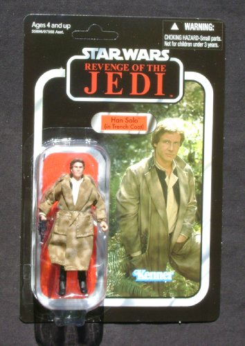 (2011 SDCC Exclusive Star Wars Revenge of the Jedi Death Star Han Solo In Trenchcoat VC62 MOC)