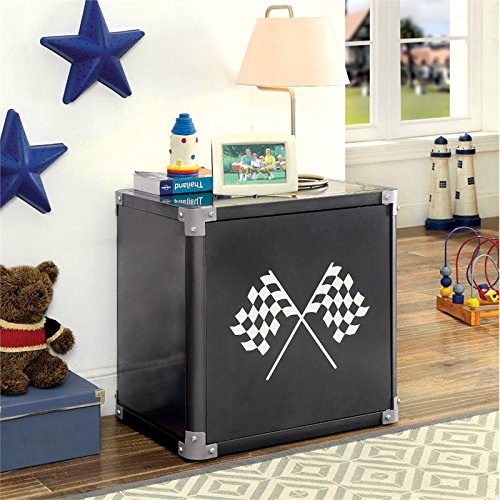 Furniture of America Parham Metal Nightstand in Black by Furniture of America