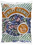 240 Wrapped Candies of Albert's Fruit Chews - Assorted Flavor.