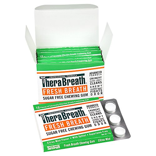 TheraBreath Fresh Breath Chewing Gum, Citrus Mint Flavor, 60 Pieces (Best For Bad Breath)