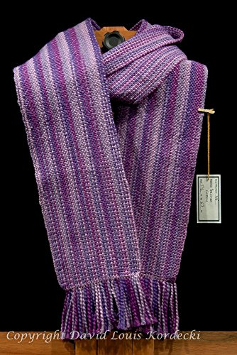 Purple hue, Peruvian Cotton handwoven scarf - Peruvian Merino Wool