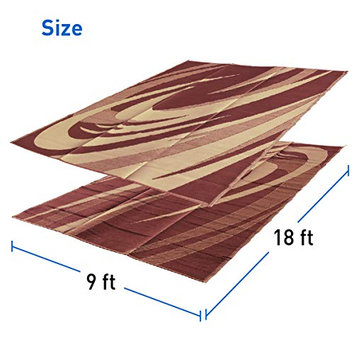 (EasyGoProducts EGP-RVM-011 9x18 9' x 18' RV Mat - Wave Pattern - RED)