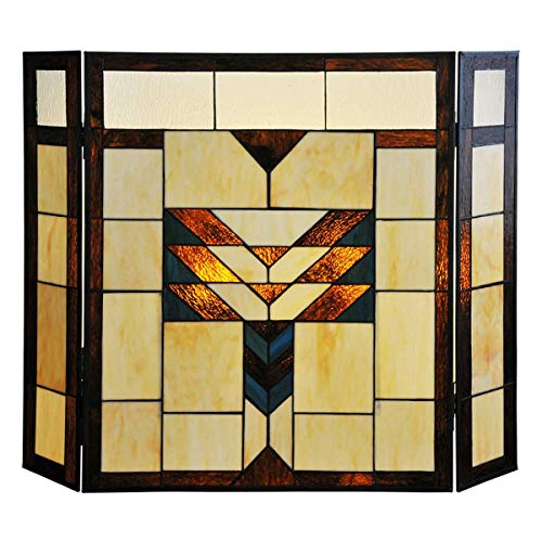 Stained Glass Fireplace - 26