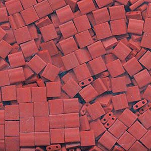 Square Shoji - Matte Metallic Dark Maroon Tila Beads 7.2 Gram Tube By Miyuki Are a 2 Hole Flat Square Seed Bead 5x5mm 1.9mm Thick with .8mm Holes