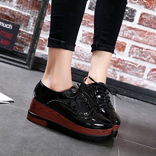 Cybling Dames Hoge Top Verhoogde Hoogte Platform Atletische Mode Sneakers Zwart