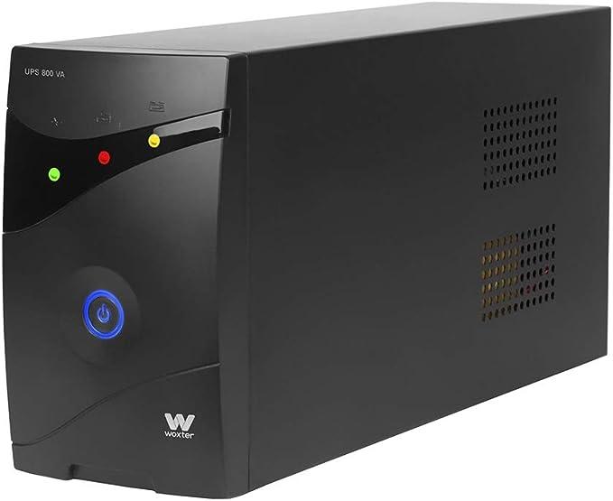 Woxter UPS 800 VA - Sistema de alimentación ininterrumpida SAI (800VA/480 watts, Autonomía aprox 8-15 minutos)