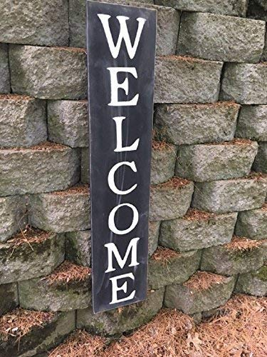 Weewen Welcome Sign 24 Inch Welcome Vertical Vertical Welcome Sign Wood Signs For Home Decor Quote Garden Plaque Sign