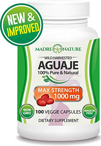 Aguaje Fruit Supplement 500mg x 100 Vegan Capsules - The Magical Fruit for Women - Curve Enhancer -...