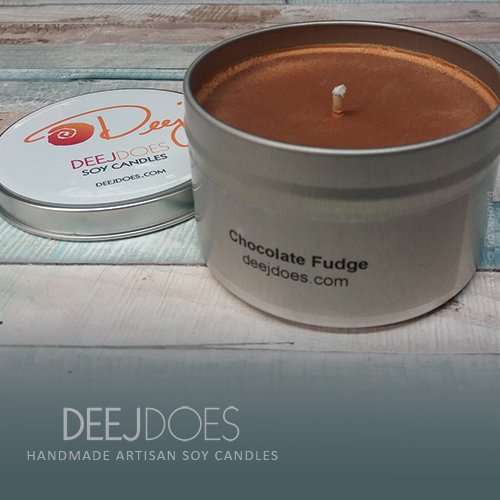 (Chocolate Fudge Soy Candle by DEEJ DOES)