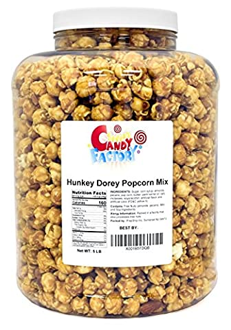 Primrose Hunkey Dorey Popcorn Mix in Jar, Buttery Popcorn with Almonds and Pecans, 5 Lbs - Buttery Almond