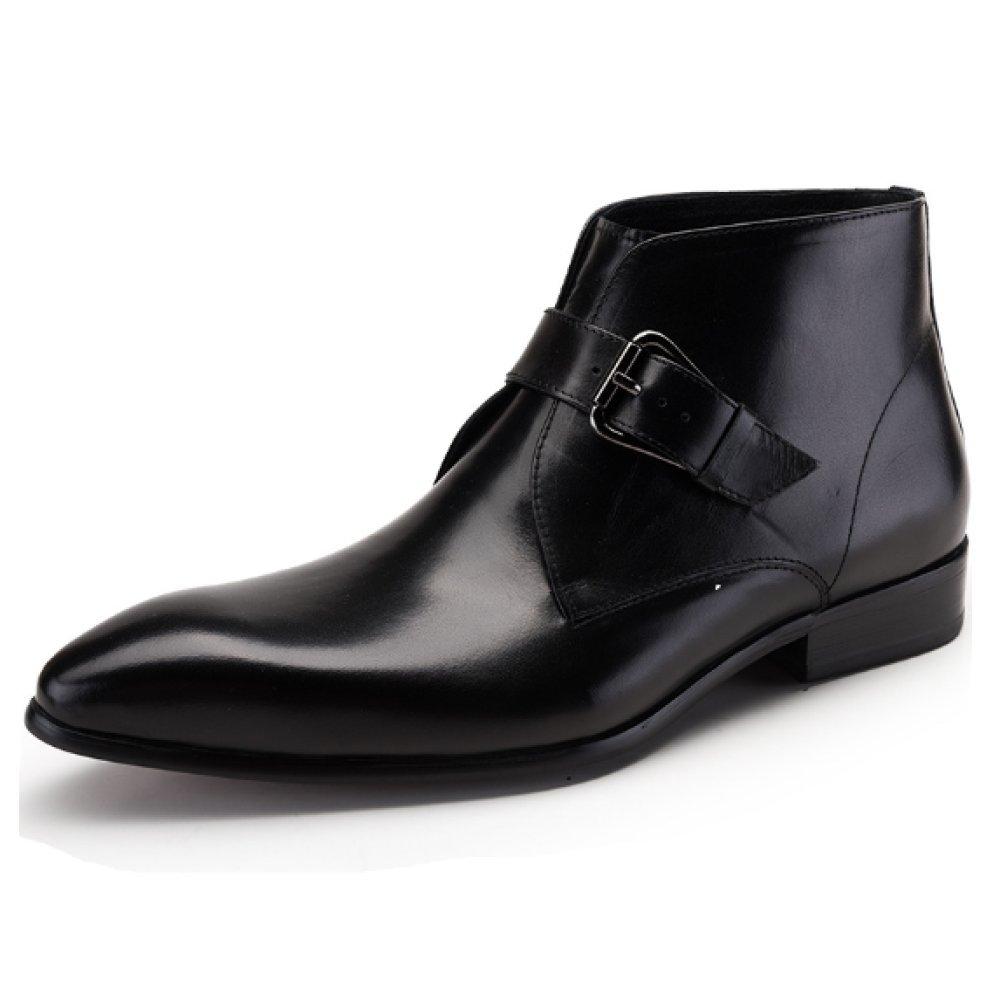 NIUMJ Hoch Oben Lederschuhe Für Herren Britische Schuhe Koreanische Version Mode Chelsea-Stiefel Einzelne Schuhe Leder Mode Schuhe