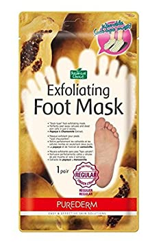 Purederm Exfoliating Foot Mask - Peels Away Calluses and Dead Skin in 2 Weeks! (10 Pack (10 Treatments), Regular) by Purederm Adwin Korea ADS353