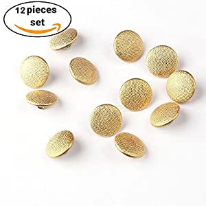 Metal Blazer Golden Buttons Set-12 Pieces Military Buttons For Blazer, Sport Coat, Uniform, Jacket