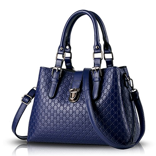 Sunas Women handbag new shoulder bag Messenger bag fashion embossed buckle female bag wallet ()