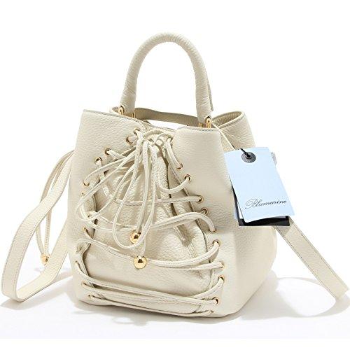 8699l Borsa Tracolla Donna Blumarine Pelle Borse Bags Women Panna