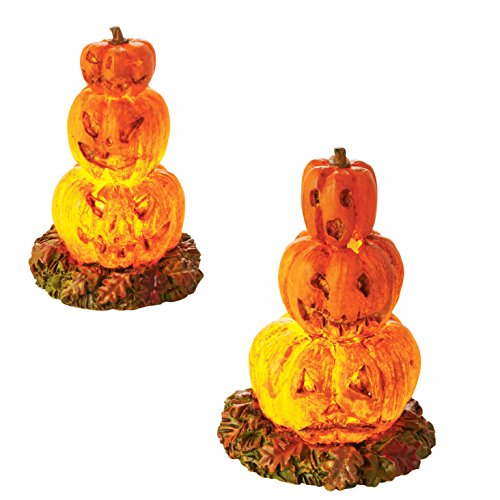 Department 56 Halloween Village Lit Stacked Jack-O-Lanterns Lights Accessory, 2.36 -