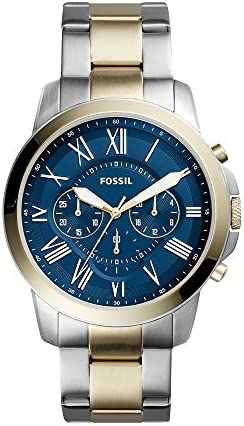 Fossil Men s FS5273 Grant Chronograph Two-Tone Stainless Steel Watch