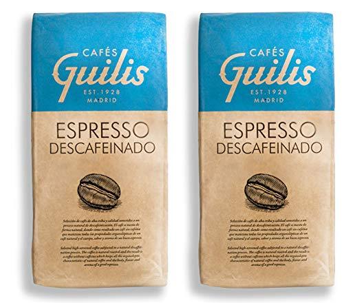 CAFES GUILIS DESDE 1928 AMANTES DEL CAFE- Café Descafeinado Grano Arábica Tueste Natural Sabor Aroma Espresso 2 kilogramos: Amazon.es: Alimentación y ...