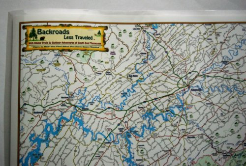 South East Tennessee Backroads Less Traveled Map with Waterfalls, Hiking Trails, Fishing Spots and Outdoor - Map Park Meadows