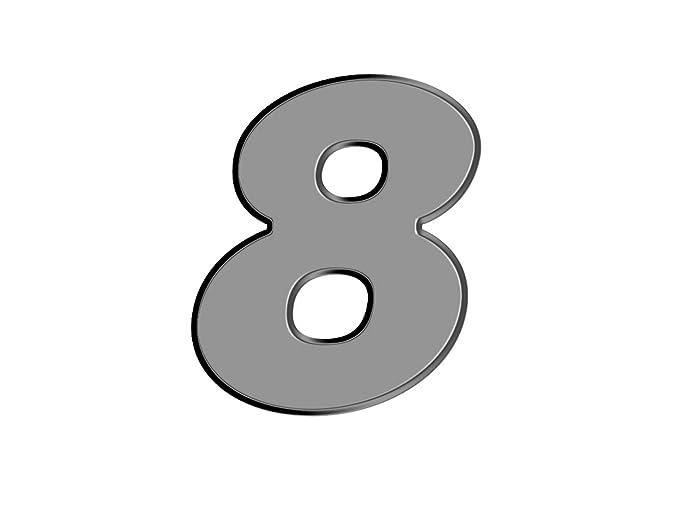 Oedim Numero de casa de Aluminio dibond | Número 6 de 20cm de Altura | 3mm de Grosor | para Exteriores o Interiores para Exteriores o Interiores | Alta ...