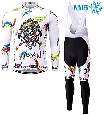 Thriller Rider Sports® Hombre Indian Deportes y Aire Libre Maillot Manga Corta de Ciclismo