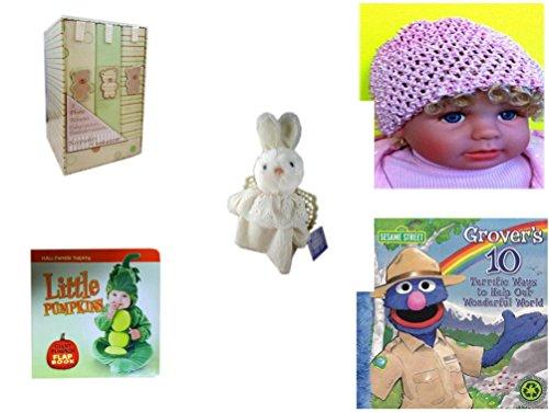 le - Ages 0-2 [5 Piece] Includes: Keepsakes by Babygear 3 Teddy Bear Photo Albums, Baby Crochet Beanie Pink, Hallmark Cheribina Sweet Angel Bunny, Little Pumpkins Giant Pumpkin F (Hallmark Beanie)