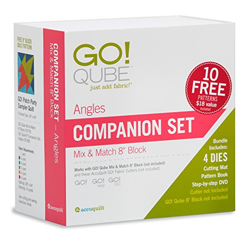 Accuquilt GO! Qube 8'' Angles Companion Fabric Die Set by AccuQuilt