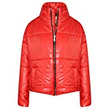 A2Z 4 Kids® Girls Jacket Kids Red Wetlook Cropped Padded Quilted Puffer Bubble Jackets Coat