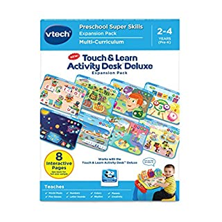 VTech Touch and Learn Activity Desk Deluxe Expansion Pack-Preschool Super Skills