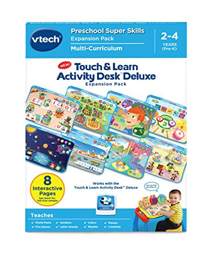 Tap Easel - VTech Touch and Learn Activity Desk Deluxe Expansion Pack-Preschool Super Skills