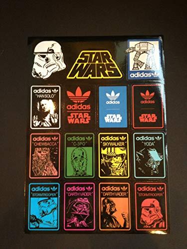 15 Adias Star Wars Skateboard Longboard Vintage Vinyl Sticker Laptop Car Decals -