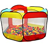 Kiddey Ball Pit Play Tent for Kids - 6-Sided Ball Pit for Kids Toddlers and Baby - Fill with Plastic Balls (Balls Not Included) or Use As an Indoor / Outdoor Play Tent