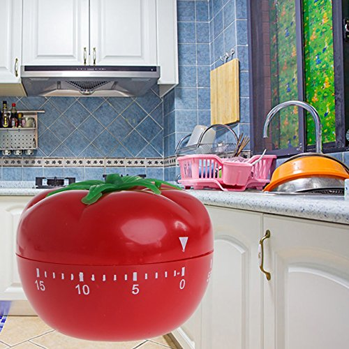 - Qisuw Cooking Mechanical Timer Kitchen Gadgets Countdown Reminder Usable Tomato Shape