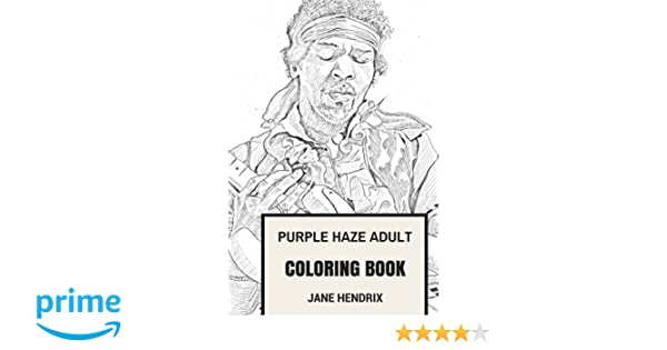 Amazon.com: Purple Haze Adult Coloring Book: Jimi Hendrix and ...