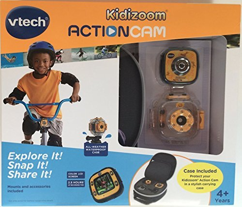VTech Kidizoom Action Cam with Case, Mounts and Accessories, Yellow/Black by VTech