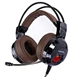 Best G-Cord Sound Canceling Headphones - XIBERIA E1 USB Gaming Headset with Microphone,Over Ear Review
