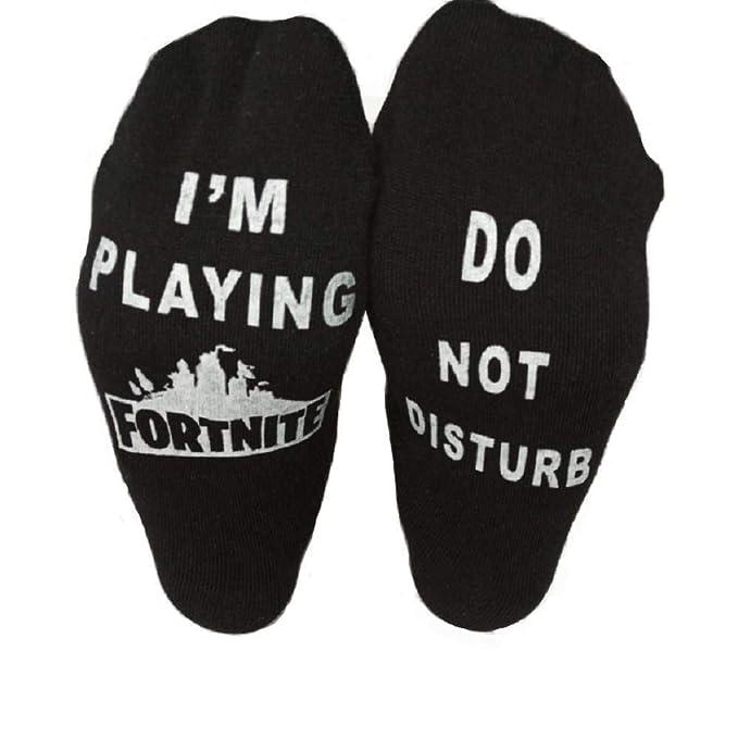 Fortnite Socks - I'm Playing Fortnite, Do Not Disturb - Black