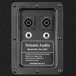 Seismic Audio 100T Pair of Dual 10-Inch PA DJ Club Speakers 600 Watts Pro Audio Band