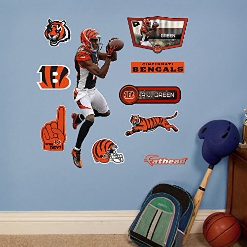 Fathead NFL Cincinnati Bengals A.J. Green: Fathead Jr - Large Officially Licensed NFL Removable Wall Decal
