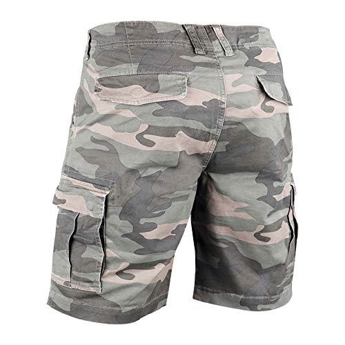 Muscle Alive Hommes Shorts Cargo Camping Randonnée Coupe Slim Camouflage Ancien 100% Coton 2